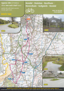 Cumbria Cycle Route Map 2